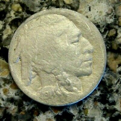 1914D BUFFALO NICKEL VF Details RB3228A 55c Shipping,FREE SHIPPING on 3 or more