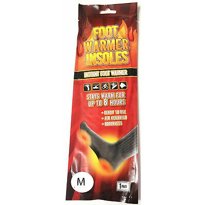 Foot Insoles Warmer 8 Hour Warmth Instant Heat Air Sock Natural Small 4-6 37-39