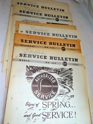 Studebaker Dealer Service Bulletins 1951 with 11 Issues All Original