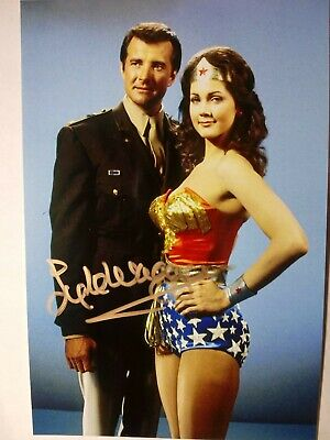 Kyle Waggoner Authenric Hand Signed 4X6 Photo with WONDER WOMAN LYNDA CARTER