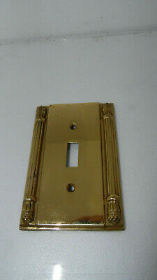 Vintage Amertac N8002T~Roman Style~Heavy Brass Switch Plate Cover~bx75