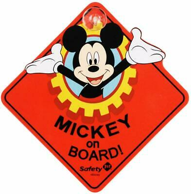NEW Disney Mickey Mouse On Board Car Window Sign for Baby Safety