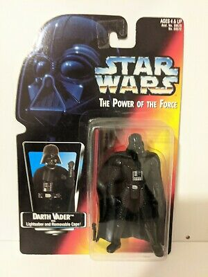 "Star Wars Darth Vader 4"" Action Figure POTF Power Force Orange Red Card Kenner"