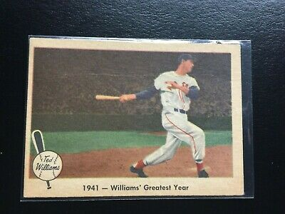 1959 Fleer Ted Williams #16--1941 Williams Greatest Year-- Free Shipping