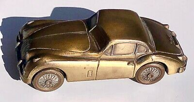 Vintage BANTHRICO 1955 JAGUAR Car Coin Bank - Metal