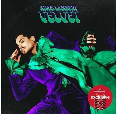Adam Lambert - Velvet CD w/ 2  Exclusive Cards and 12 Page Lyric Book