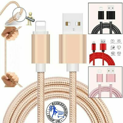 Heavy Duty Braided Lightning USB Charger Cable 1M 2M 3M For iPhone X 7 6 5 iPad