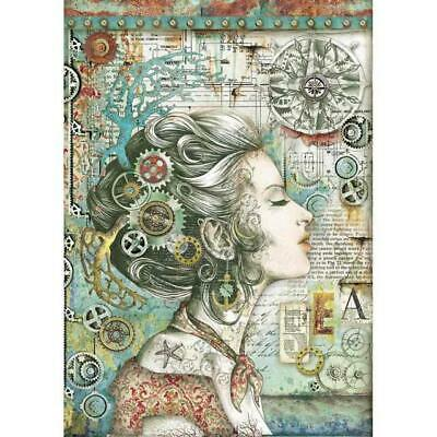 Rice Paper - Decoupage - Stamperia - 1 x A4 Size Sheet - Lady With Compass