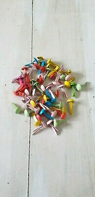 Coloured Brads --  4mm Assorted colours