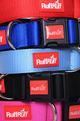 2 YEAR GUARANTEE RUFF RUFF Neoprene Padded 4 6 Foot Dog Lead or Collar Colours!!
