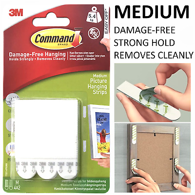 3M Command Strips™️ Picture Frame Hanging Adhesive Stick on MEDIUM Damage-Free