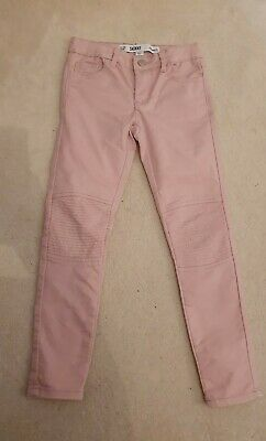 Girls Jeans Pink Primark Size 7-8 Fabric Denim Skinny Pale Baby