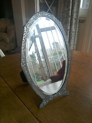 Beautiful little Antique pewter mirror very much in the arts and crafts style.