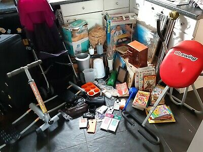Joblot of House Clearance items Ideal Carboot Tabletop Auction