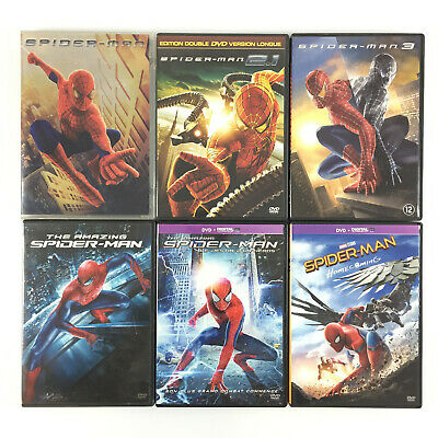 Spiderman L'intégrale / Coffret Lot 6 DVD (1 2 3 + The Amazing + Homecoming )