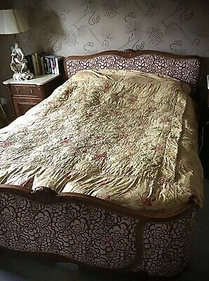 Authentic Antique French Chateau Bedspread C1900