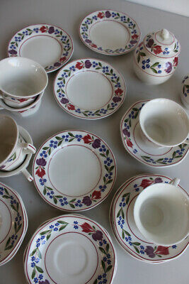 Adams Old Colonial 6 Cups & Saucers Tea Plates Jug Sugar Pot