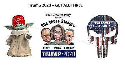 Trump 2020 - Three Pack Special (3 Stooges, Punisher, Yoda) - DemoRats
