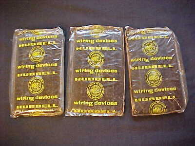 3 Vintage Brown Bakelite  Ribbed Duplex Receptacle Plates  Uniline Hubbell NOS