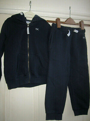 School Uniform Next Girls' Navy Blue Tracksuit Top and Bottoms Set, aged 5 Years