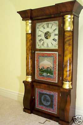 Two Glass Tablets Seth Thomas For Triple Decker - Antique Clock Parts