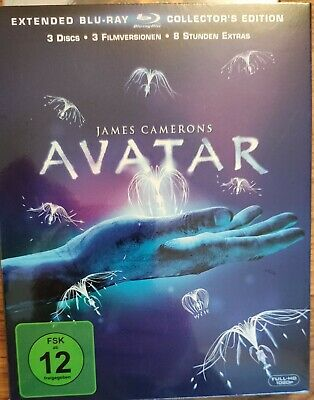 Avatar - Extended Collector's Edition, 3 Discs - 3x Blu-ray Disc Neu OVP