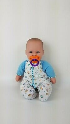 """JC Toys Berenguer Realistic 15"""" Baby Boy Doll Soft Body + Clothes & Pacifier"""
