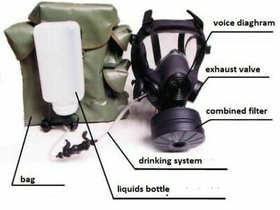 Modern Mp5/Afr Gas Mask With A Filter And Drinking System