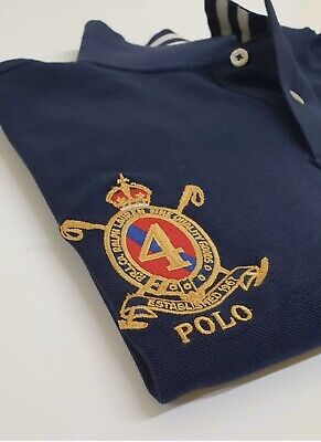 Genuine Ralph Lauren men's Big Pony Mesh Polo Shirt Rowing Club Custom Slim Fit