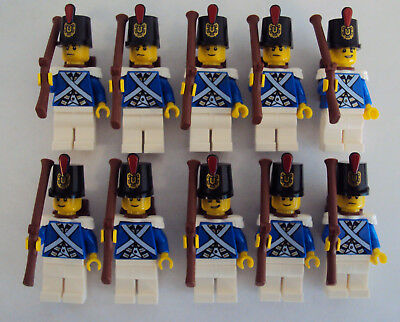 Lego PIRATES Imperial Guard Armada BLUECOAT Soldiers MINIFIGS White VERSION