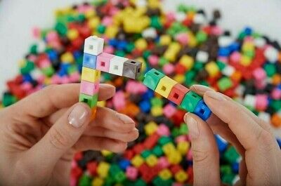 1 cm x 100 Cubes Counting Interlocking  Student Learning Educational