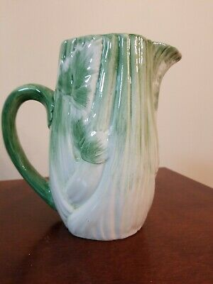 Handpainted Celery Pitcher By San Marco Nove Made In Italy.  Think Bloody Marys!