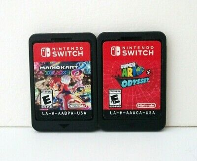 Mario Kart 8 Deluxe Super Mario Odyssey Nintendo Switch Games Lot Cart MarioKart