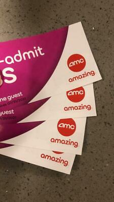 (4) AMC Theatres Re-Admit Pass, Valid For 3D/Imax/Dolby. Expires 07/31/21