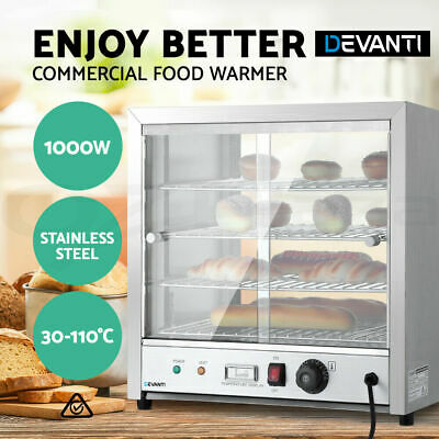 Commercial Food Warmer Pie Pizza Hot Display Showcase Stainless Steel Cabinet
