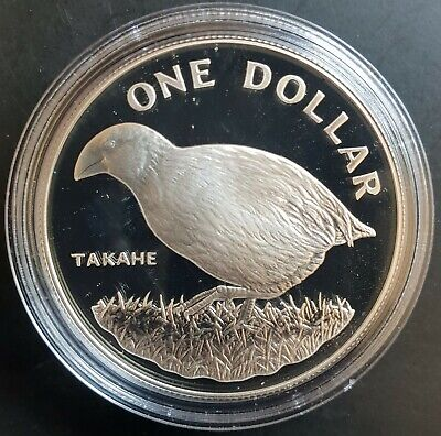 1982 New Zealand:  $1 (TAKAHE) Silver Proof......