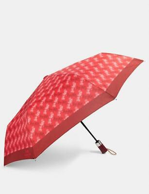 """Coach Carriage umbrella   red / cherry   NWT with matching sleeve  11.5"""""""
