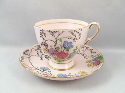 Tuscan Hand Painted Fine English Bone China Tea Cup & Saucer W/ Flowers