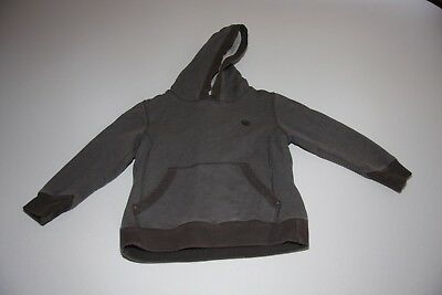 Boys Fat Face grey/brown hoodie - age 4 to 5 years