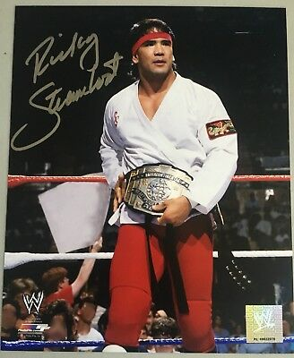 Ricky Steamboat Signed 8x10 Official Photo File  WWE NWA WCW NXT AEW Wrestling