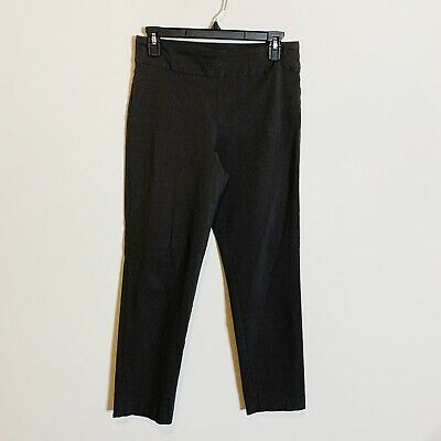 Womens Krazy Larry Stretch High Waisted Pull On Tapered Crop Pants Grey Size 8