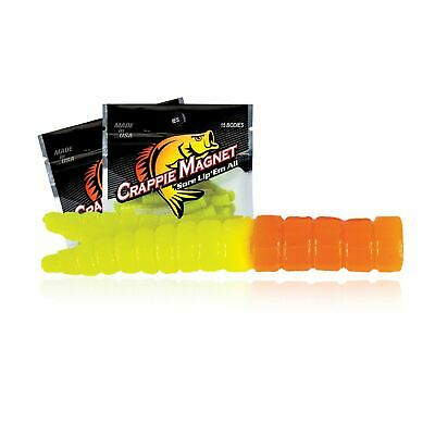 White//Chart Leland Lures 87274 Crappie Magnet Body Pack NEW 15-Pack