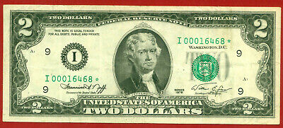 US 1976   2 Dollars  ( STAR )  World paper money currency banknotes ( I 468 * )
