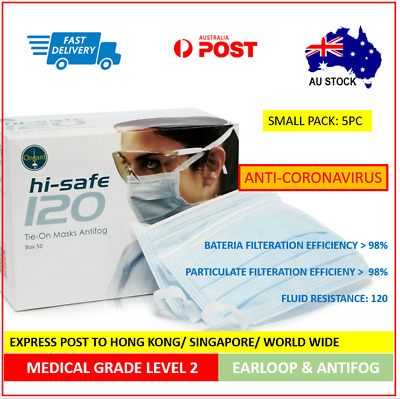 G-[Medical Grade Level 2] Ongard HiSafe Surgical Mask Earloop SMALL PACK: 5PC