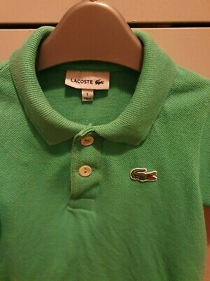 BOYS LACOSTE POLO SHIRT LONG SLEEVED CHILDRENS STRIPED NAVY BLUE WHITE *NEW*