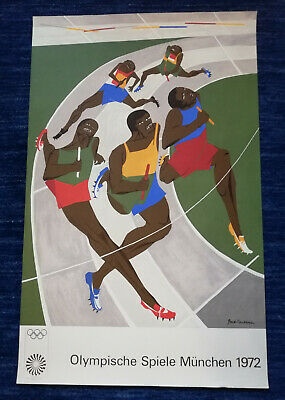 Olympische Spiele München 1972 Jacob Laurence Poster Reproduktions-Plakat