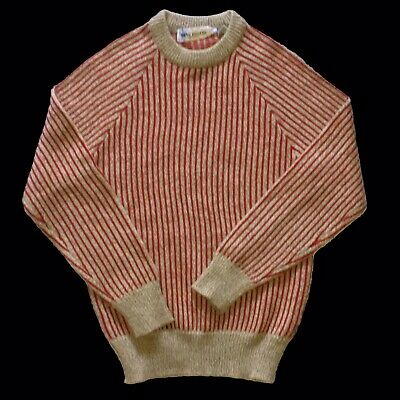 Vintage 70s men's pullover sweater Wayne Rogers vertical stripes medium
