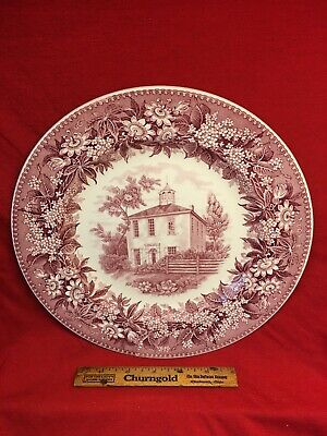 Vtg Exc Wedgwood Corydon Indiana First Old State Capital Plate England 1960's