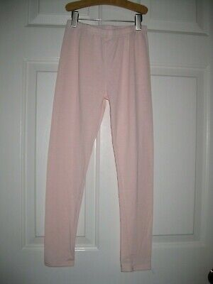 Girls Leggings size S 7 8 7/8 Pull on Pants Pale Pink Soft New NWOT