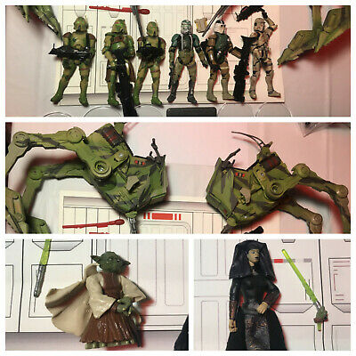 Star Wars Lot Kashyyyk AT-RT Driver Walkers Gree COMPLETE Troopers Order 66